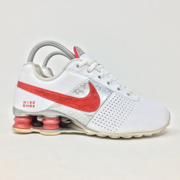 promo code cae9b a4a63 Nike Shox Deliver Womens 6.5 Red Running Shoes L10.  M 5b989c2b12cd4a247909ff7c